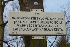 Nález laténské plastiky hlavy Kelta...